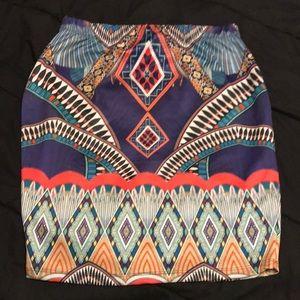 Forever 21 Aztec skirt 3X